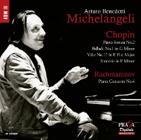 Rachmaninov: Piano Concerto No. 4, Chopin: Sonata No. 2 - Michelangeli, Gracis