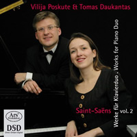 Saint-Saëns: Works for Piano Duo, Vol 2 - Poskute / Daukantas