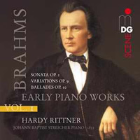 Brahms: Complete Piano Music, Vol 1 - Hardy Rittner