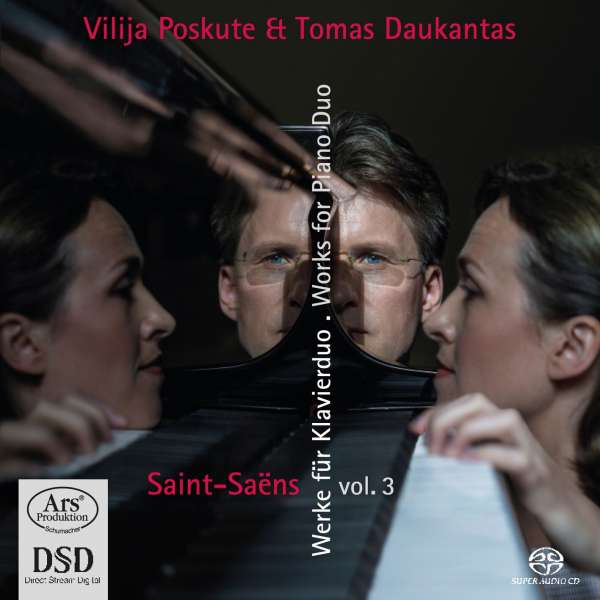 Saint-Saëns: Works for Piano Duo, Vol 3 - Poskute / Daukantas