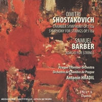 Shostakovich: Chamber Symphony, Barber: Adagio for Strings - Hradil