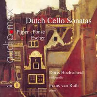 Dutch Cello Sonatas, Vol 1 - Hochscheid / van Ruth