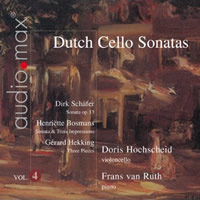 Dutch Cello Sonatas, Vol 4 - Hochscheid / van Ruth