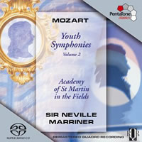 Mozart: Youth Symphonies Vol. 2 - Marriner